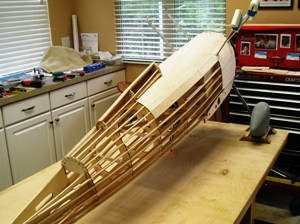 18 Covering fuselage & turtle deck with .125 thick balsa