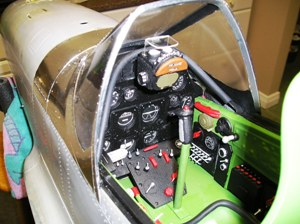 19 Finished P-51D cockpit