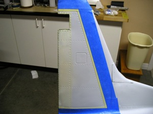 1 Start at the tail & tape off a panel