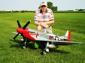 1 Walt & his P-51D Blondie at the FWFC, Inc., flying field on August 13, 2007