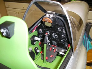 20 Finished P-51D cockpit from right side