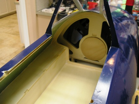 22 Cockpit glued in place with Aeropoxy glue