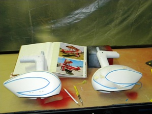 25 Taping up wheel pants for painting Tennessee Red