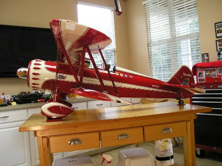 2 Finished model of John Hodgson's PT-17 N450SH1