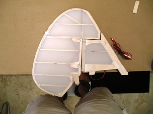 2 Rudder covered with Solartex fabric