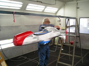 3 Final preparations  by Master Painter Terry Holson before shooting a light coat of clear