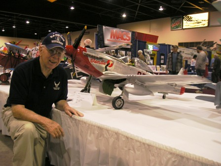 4 Walt Carnes & his P-51D  Blondie at  Weak Signals RC Show, To