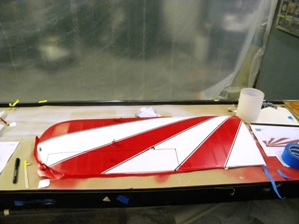 5 Right bottom wing panel painted