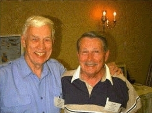 Don Allen (left)  Marvin Arthur at the 4th Fighter Group Reunion in Knoxville TN during June 17-21 1999  (2)