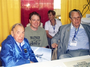 is_photo__was_taken_at_the_Wings_of_the_North_Airshow_in_July_2004.__Franz_Stigler_is_on_the_left__Charles_Brown_right__Artist_Jamie_Iverson_center.[1]